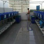 Hệ RXCS Aquaponics đôi 16 khay rau 100l