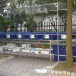 Giàn RCXS Aquaponics 7 khay rau biệt thự Tây Hồ, HN của anh Thắng