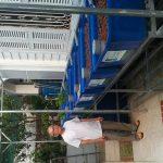 Giàn RXCS Aquaponics 7 khay rau 100L tại Tp.Nha Trang.